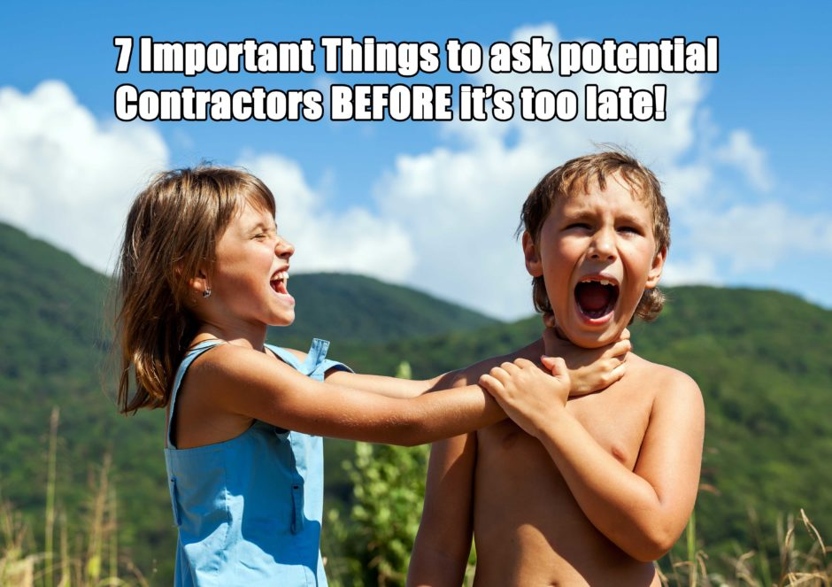 Seven Things To Consider When Hiring A Contractor